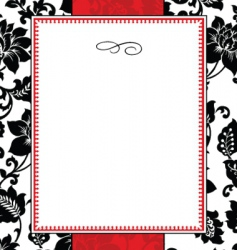 floral pattern and frame vector image vector image