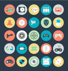 Gaming colored icons 2 vector