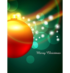 merry christmas background vector image vector image
