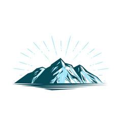 Mountain landscape rock nature vector