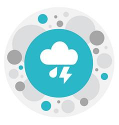 Of air symbol on cloudburst vector