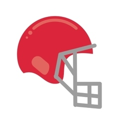 Pink helmet mask american football equipment vector
