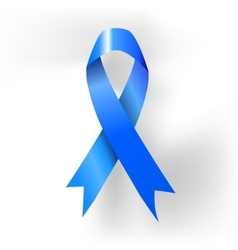 Prostate cancer awareness blue ribbon poster vector image vector image