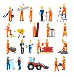Repairs construction builder set vector