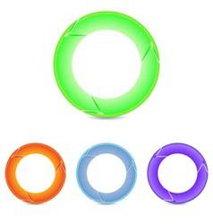 set of round arrows vector image vector image