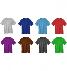 set of t-shirt designs vector image