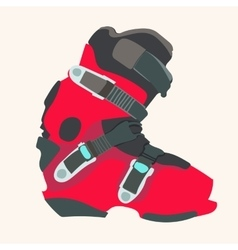 Snowboard boot vector image
