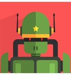 Soldier robot character vector