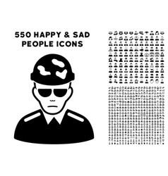 Swat soldier icon with bonus vector