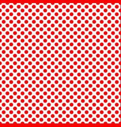 Tile pattern with red polka dots on white vector