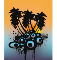 tropical trees vector image vector image