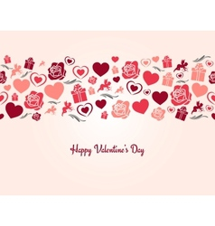 valentines day heart seamless background vector image