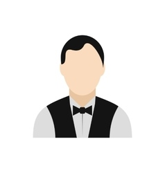 Waiter flat icon vector image