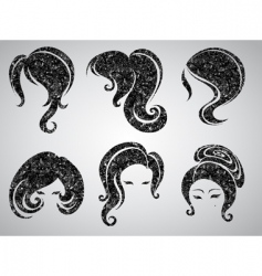 womans hair vector image