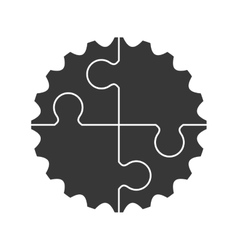 Cog gear machine part icon graphic vector