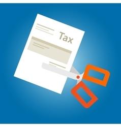 Tax amnesty cut paper scissor vector image