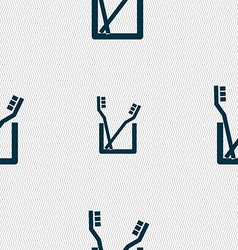 Toothbrush icon sign seamless pattern with vector