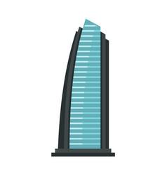 egypt beach resort icon flat style vector image