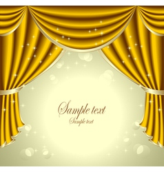 Background with gold drapes vector