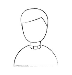 Cute priest avatar character vector