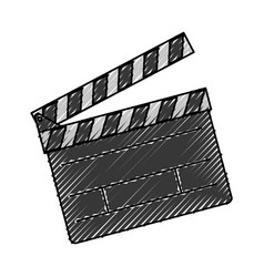 Clapper board action video filmstrips vector
