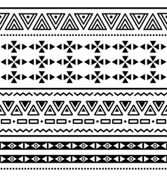 Tribal ethinc ztec seamless pattern vector