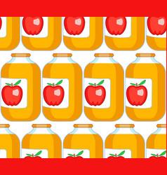 Apple juice pattern vector