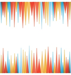 Abstract sharp zig-zag border style background vector