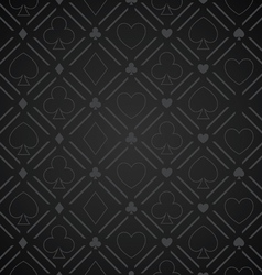 Seamless abstract poker pattern black vector