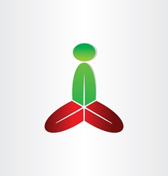 Man meditating yoga and spa icon vector