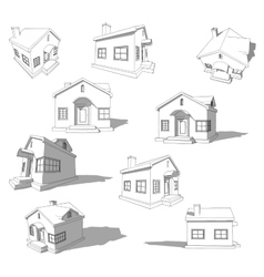 Sketch of abstract house vector