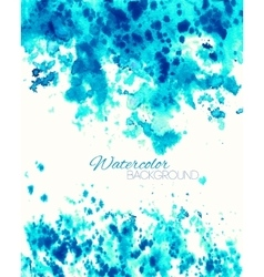Cyan blue abstract painted background vector