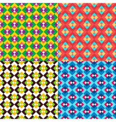 Colored geometric patterns set vector