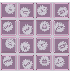 Seamless background with sale sticker vector