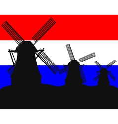 netherlands windmill vector image