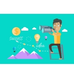Man finding opportunities concept vector
