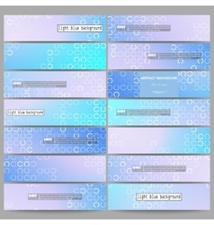 Set of modern banners Abstract white circles on vector image