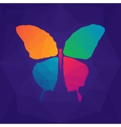 Colorful abstract polygonal butterfly vector