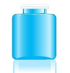 Blue bottle from under medicine vector