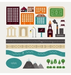 Elements of town architecture vector