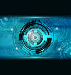 Abstract tech circle background vector