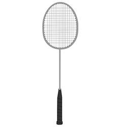 Badminton racket vector image