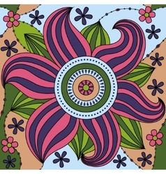 Big flower pattern colorful vector