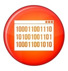 Binary code icon flat style vector