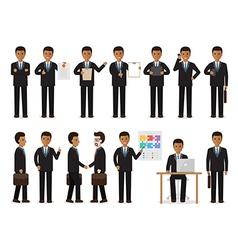 Black businessman people characters vector