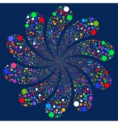 Bubble salute swirl with ten petals vector
