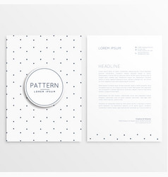 clean minimal letterhead template vector image vector image