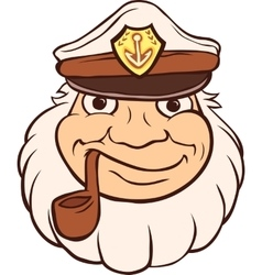 Color Captain Portrait vector image vector image