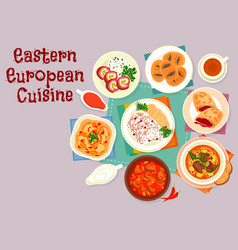 Eastern european cuisine icon for menu design vector