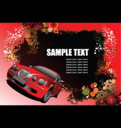 grunge background with car vector image vector image